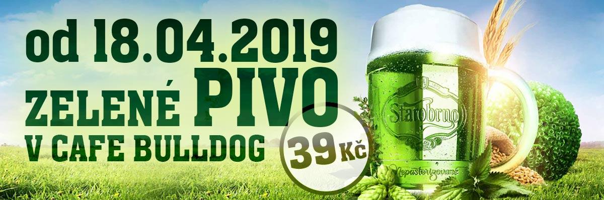 Cafe Bulldog - Zelené pivo v Cafe Bulldog za 39 Kč