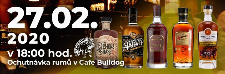 Cafe Bulldog - Únorová ochutnávka rumů